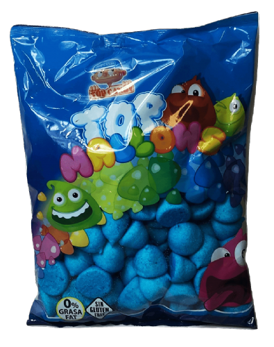 TOP MALLOWS BLUE  1KG BAG